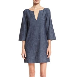 alice + olivia Lowell chambray shift dress - SMALL